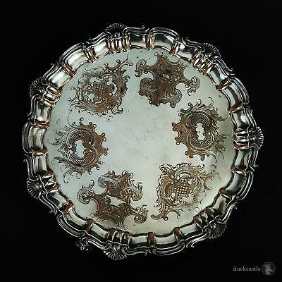 """William IV OLD SHEFFIELD PLATE Footed SALVER / WAITER TRAY c1836 Wilkinson 12"""""""