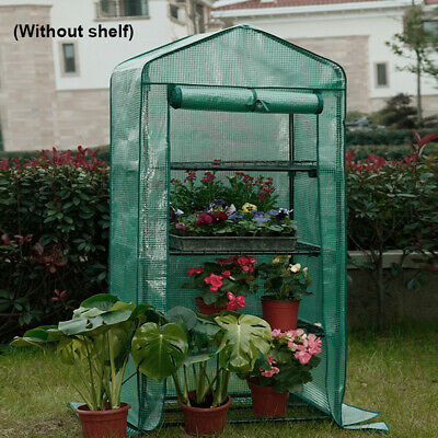 4 Tier Mini Plastic Walk in Greenhouse Cover Replacement Growbag Plant Garden