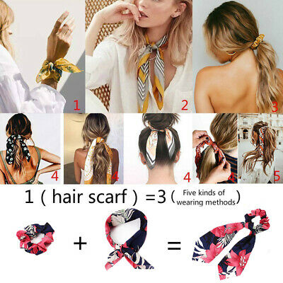 Accessories Hair Band Elastic Hair Tie Solid Floral Rope Bow Scrunchie Scarf HOT