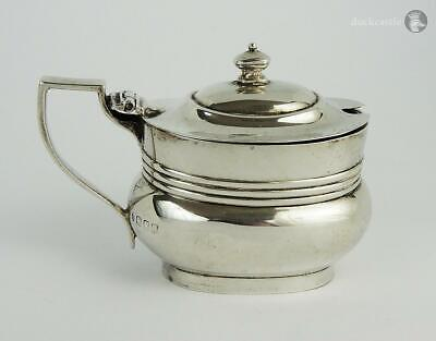 Georgian Style ANTIQUE STERLING SILVER MUSTARD POT London 1916 Edward Barnard