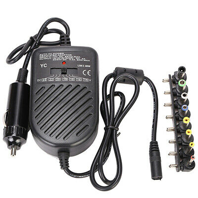 Universal 80W DC Car Charger Laptop Notebook Power Supply Adapter For HP DELL