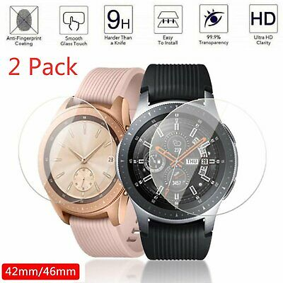 2X 42/46mm HD Tempered Glass Screen Protect Film Cover For Samsung Galaxy Watch