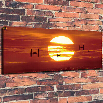 "Sunset Star Wars Painting Wall Art HD Print on Canvas Home Decor Room 16""X36"""