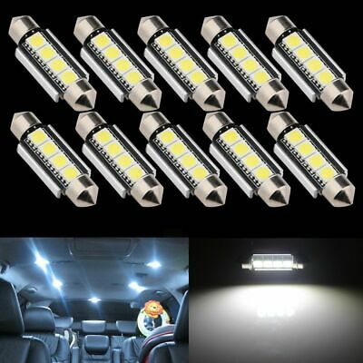 10X 42mm 5050 4 SMD LED Soffitte Auto 12V 2W Standlicht Innenraumbeleuchtung DHL