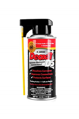 CAIG Laboratories Deoxit 5% Spray Electrical Contact Cleans Protects Arcing 5oz
