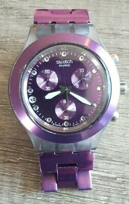 Swatch Irony Full-Blooded Blueberry Armbanduhr für Unisex (SVCK4048AG)