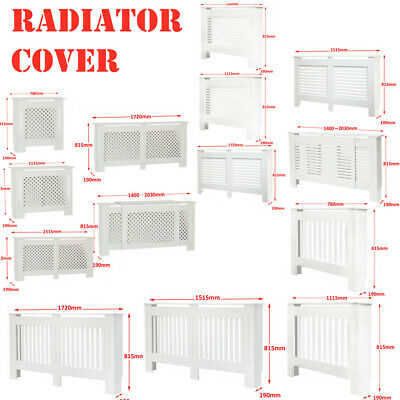 Multi Modern Home Radiator Cover White Painted MDF Wood Grill Cabinet Furniture