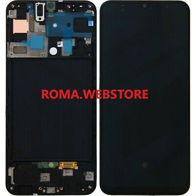 Display Lcd Touch Originale Samsung Galaxy A505F A50 Nero sm-a505f SERVICE PACK