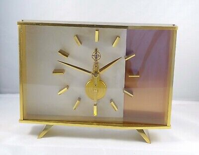 A Jaeger LeCoultre TV clock in Brass in excellent condition.