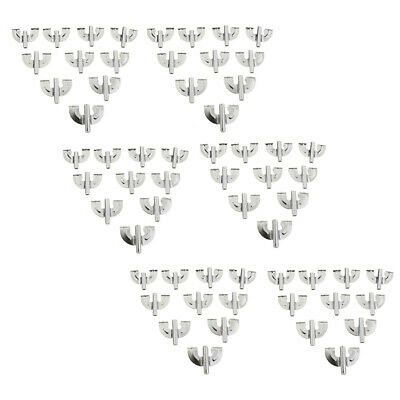60pcs Bass Drum Claw Hook for Drum Percussion Instrument Parts Silver