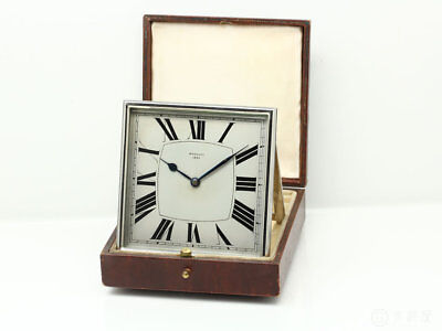 BREGUET Travel Clock Watch 1920 - 1930 ANTIQUE Vintage Roman index Used Japan