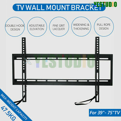 "Universal TV Wall Mount Bracket 32""-75"" Inch LCD LED PLASMA Flat Tilt Slim 80kg"