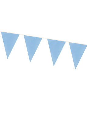 Pale Blue Bunting Party Decoration 10m