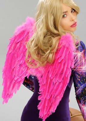 Hot Pink Feather Angel Wings