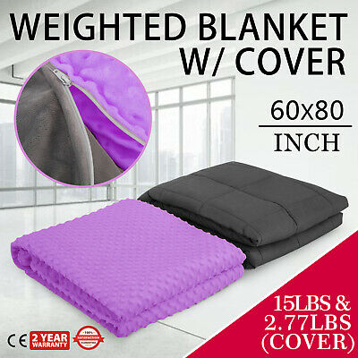 Weighted Blanket  Heavy Gravity Sensory 15lbs inner layer cotton 100% premium