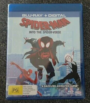 Spider Man Into The Spider Verse Blu-ray + Digital Brand New & Sealed Region B