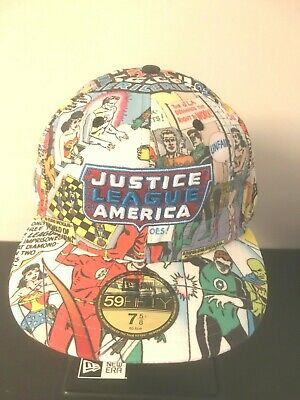low priced bd248 c24cd Justice League DC Comics All Over New Era 59fifty Fitted 5950