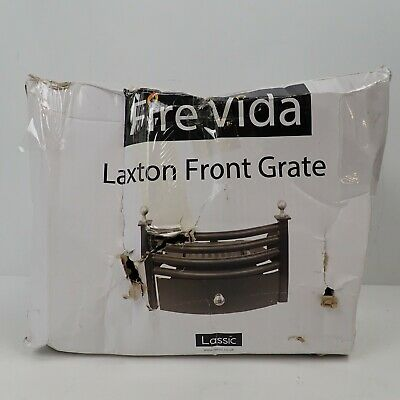 Fire Vida Laxton Solid Fuel Coal Ashpan Set Front Grate, Metal, Chrome/Black