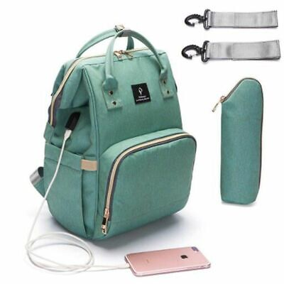 Diaper Bag With USB Interface Large Capacity New Waterproof Nappy Kits Maternity