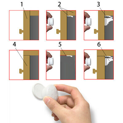 10Pcs Kids Safety Magnetic Cabinet Locks Invisible Child Proof Cupboard Drawer