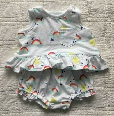 New Infant Girls Two Piece Set For 3 To 6 Months