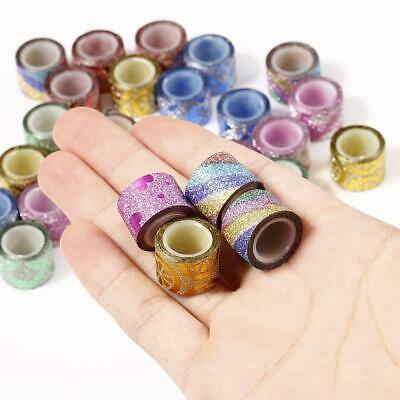 30 Pcs DIY Small Craft Sticker Glitter Paper Masking Decor Adhesive Tape WT88 07