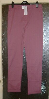 Bnwt M&S Girls Carmine Pink Soft Cotton Trousers Age 15-16Yrs Longer Length