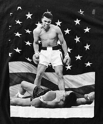 2e834c9f Muhammed Ali - Sonny Liston Knockout T-Shirt Boxing Cassius Clay Mens 4XL  XXXXL