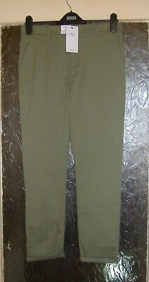 Bnwt M&S Girls Khaki Soft Cotton Trousers Age 11-12 Yrs Plus Fit