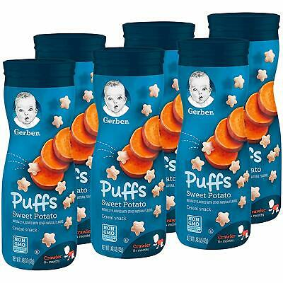 Gerber Graduates Puffs - Sweet Potato - Baby Cereal Snack 42g (Pack of 6)