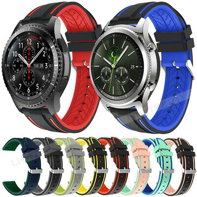 20-22mm Rubber Watch Strap Band Silicone Bracelet Replacement +Quick Release Pin