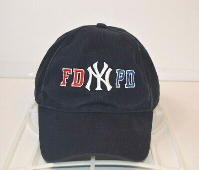 2359b0718 New York Yankees Baseball Hat FD PD Police Fire Department MLB Cap One Size