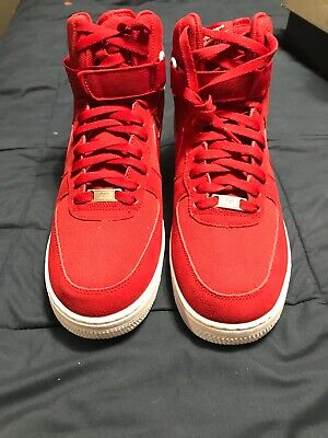 huge selection of c33cc 15ffd Nike Air Force 1 High  07 LV8 Gym Red Retro Basketball Shoe Men sz 11