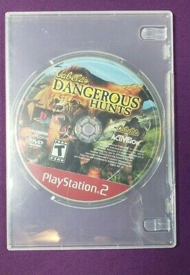 Cabela's Dangerous Hunts 2 Playstation 2 Ps2 Disc Only Works Free Shipping
