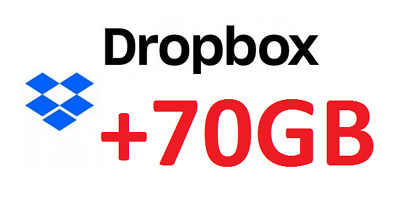 Dropbox + 70gb Cloud code instant delivery