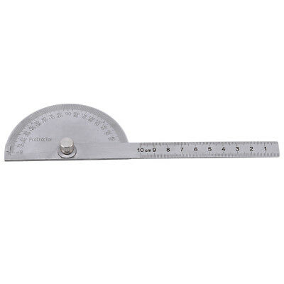 Useful Round Head 180-degree Protractor Angle Finder Rotary Ruler Measure Tool W