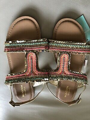 Brand New Girls Sandals From Monsoon, Size 4, Perfect Summer Shoes.beads+sequins