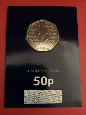 Sherlock Holmes 2019 50p Fifty Pence Coin Brilliant Uncirculated Coin - BU