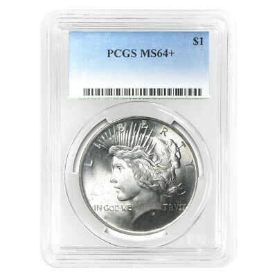Random Year Peace Dollar PCGS MS-64 Silver Coin