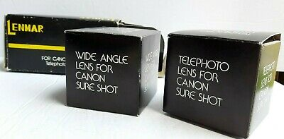 Lenmar Aux Lens set for Canon Sure Shot 35mm Telephoto & Wide Angle view finder