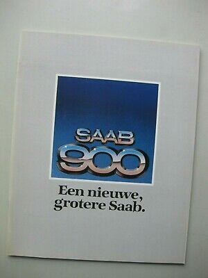 Saab 900 prestige brochure Prospekt Dutch text 32 pages 1978 1979
