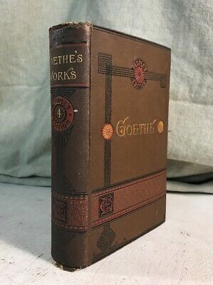 The Poems Of Goethe Antique Victorian Fine Decorative Binding Book Poetry