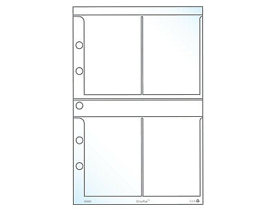 "3.5 x 2.5"" Mini Four Pocket Trading Card Pages, Fits UniKeep A5 Binders, 20 Pack"