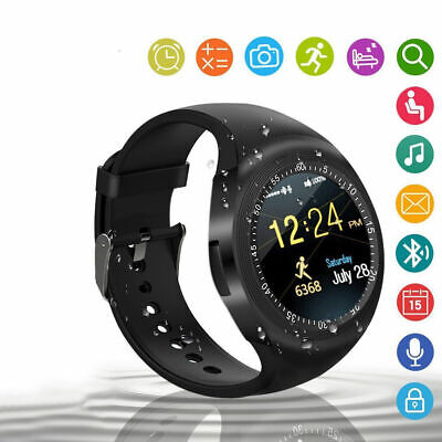 3ef6ceff2b4 Y1 SMART WATCH Bluetooth Phone Mate Sim Card Round Touch Screen for ...