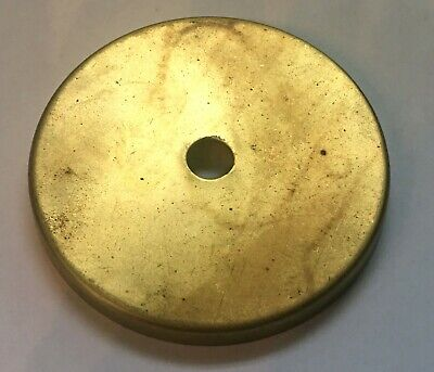"""3"""" SOLID BRASS CHECK plate cap unfinished brass slip 1/8IP new/old stock"""