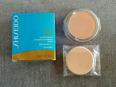 Shiseido Sun Protection Compact Foundation SP10 SPF 34 Refill + Sponge NEW!