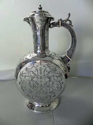 VINTAGE STERLING SILVER WINE DECANTER BY JOSEPH ANGELL l & JOSEPH ANGELL ll