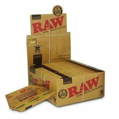 Lot Of  5 Packs RAW Rolling Papers King Size Slim Classic Natural Unrefined Hemp