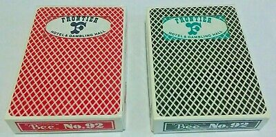 2 Decks Frontier Hotel & Gambling Hall Casino Used Playing Cards