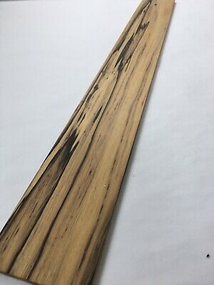 Pale Moon / Black And White ebony guitar fretboard blank 3.2 x 27.1 x .25
